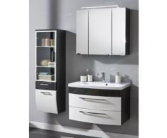 Ensemble de Meuble de salle de bain de 4 pièces Malema 80cm en Anthracite-Blanc