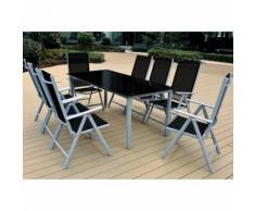 Ensemble chaises et table Berne - Salon de jardin - Dossiers hauts pliables - DEUBA
