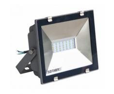 Projecteur à fixer extérieur LED intégrée, Projecteur LED étanche (IP 65) - aluminium - gris -