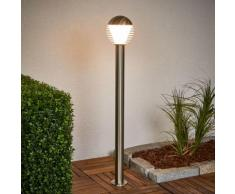 Borne lumineuse LED Ruben inox borne lumineuse sphère Lampenwelt extérieur
