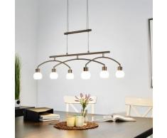 Lampe LED salle à manger Jelia Suspension coin repas hauteur réglable LED - LAMPENWELT