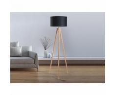 Lampadaire design - luminaire - lampe de salon - noir - Nitra - BELIANI