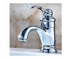 Robinet salle de bain style Européen avec mitigeur intégré, finition chromée - LOOKSHOP®