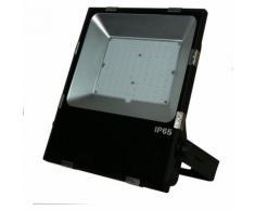 Projecteur LED extérieur ultra plat Noir 100W 10 000 LM 5000K IP65 | Blanc froid 5000K - IDELED