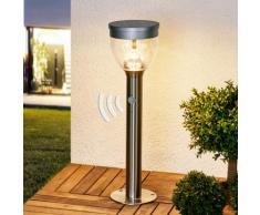 Borne lumineuse solaire Eda lampe extérieure luminaire inox LED - LAMPENWELT