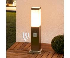 Borne lumineuse Lorian détecteur de mouvement capteur carrée - LAMPENWELT