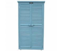 "Armoire de jardin ""Space"" - 87 x 46.5 x 160 cm - Bleu ciel - HABITAT ET JARDIN"