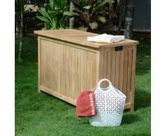 Coffre de jardin en teck Ecograde 120 cm Aoba - TECK'ATTITUDE