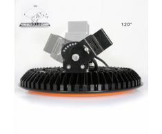 Lot de 2 UFO-Projecteur LED 200W Phare de Travail Rond IP65 Haute Baie d'éclairage Suspension