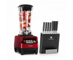 Herakles 5G Kitano- Kit Mixer blender rouge 1500W 2L + Bloc 7 couteaux