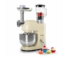 Klarstein Lucia Morena Robot de cuisine Pétrin Mixeur Hachoir 1200w 5l
