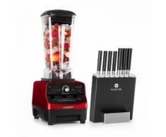 Herakles 3G Kitano- Kit Mixer blender rouge 1500W 2L + Bloc 7 couteaux