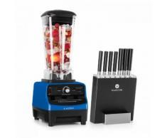 Herakles 3G Kitano - Kit Mixer blender bleu 2L 1500W + Bloc 7 couteaux