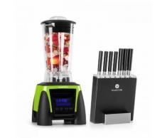 Herakles 8G Kitano Kit Mixer blender vert 1800W 2L + 7 couteaux & bloc
