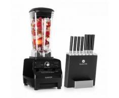 Herakles 3G Kitano - Kit Mixer blender noir 1500W 2L + Bloc 7 couteaux