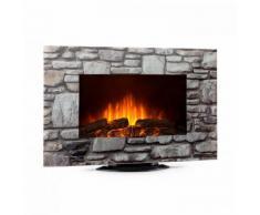 Klarstein Colmar cheminée électrique verre 2000 W 7 Couleurs LED Télécommande
