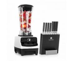 Herakles 3G Kitano- Kit Mixer blender blanc 1500W 2L + Bloc 7 couteaux