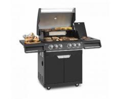 Klarstein Highgrade 4 IB Barbecue à gaz 6 brûleurs 19,8 kW 71x46cm - inox