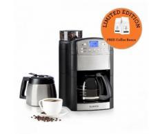 Klarstein Aromatica kit machine à café cafetière moulin verseuse verre thermos inox