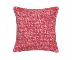 Coussin carré ou rectangulaire coton traité stonewash Sadi rouge Wink