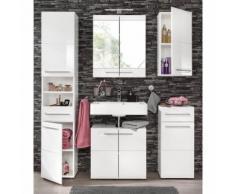 Ensemble salle de bain 4 pièces : meuble colonne + meuble sous vasque
