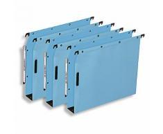 Dossiers suspendus ELBA Velcro Bleu - 25 Unités