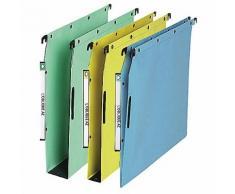 Dossiers suspendus pour armoires fond V ELBA Velcro Bleu - 25 Unités
