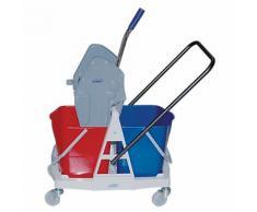 Chariot de nettoyage sur roulettes 50 5 (H) x 64 5 (l) cm Bleu rouge