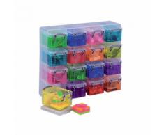 Mini boite de rangement Really Useful Boxes 0 14 L 6 5 (H) x 22 8 (l) cm Assortiment - 16 Unités