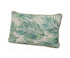 Coussin déhoussable rectangulaire en coton motif jungle tropical 30x50cm JUNGLE Motif 1
