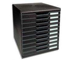 Module de classement Exacompta ECOBlack - 10 tiroirs - format A4+ - 28,8 x 32 x 35 cm - noir