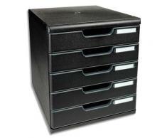 Module de classement Exacompta ECOBlack - 5 tiroirs - format A4+ - 28,8 x 32 x 35 cm - noir
