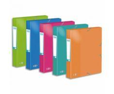 Boîte de classement Elba Colorlife - en carte pelliculée - dos 40 mm - format A4 - coloris assortis