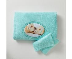 Serviette + gant de toilette - menthe