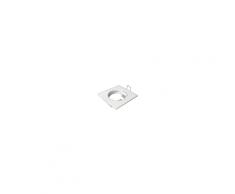 Spot carré encastrable et fixe blanc avec douille GU10 raccord protégé incurvé ZAMAK 2017