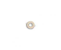 Spot encastrable et orientable 45° rond aluminium or cuivré brossé pour ampoule MR11 / Gu4