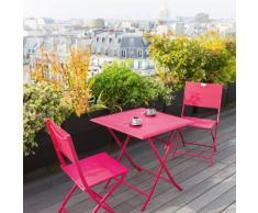 Table de balcon pliante carrée Azua Cerise Jardin