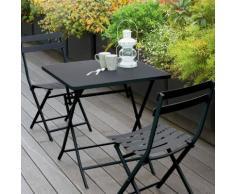 Table de balcon pliante carrée Greensboro Graphite Jardin
