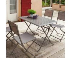 Table de balcon pliante rectangulaire Azua Taupe Jardin