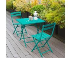 Table de balcon pliante carrée Greensboro Émeraude Jardin