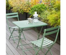 Table de balcon pliante carrée Greensboro Kaki Jardin