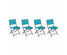 Chaise pliante Modula Lagon & Graphite Jardin