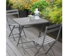 Table de balcon pliante carrée Greensboro Galet Jardin