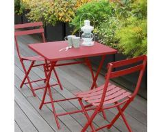 Table de balcon pliante carrée Greensboro Groseille Jardin