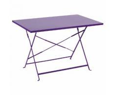 Table de balcon pliante rectangulaire Camargue Violet Jardin