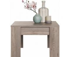 Table basse carrée 60x60 cm en bois coloris chêne Nelson