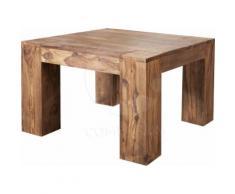 Table basse carrée en bois massif de palissandre