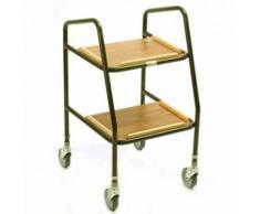 Chariot de cuisine, étagères en bois