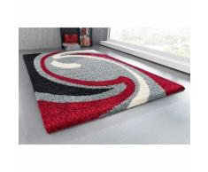 Tapis carré ou rectangulaire motif vague velours hautes mèches my hom
