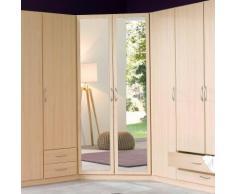 Armoire dressing dangle 2 portes miroir, hauteur 175 cm « Stuttgart »